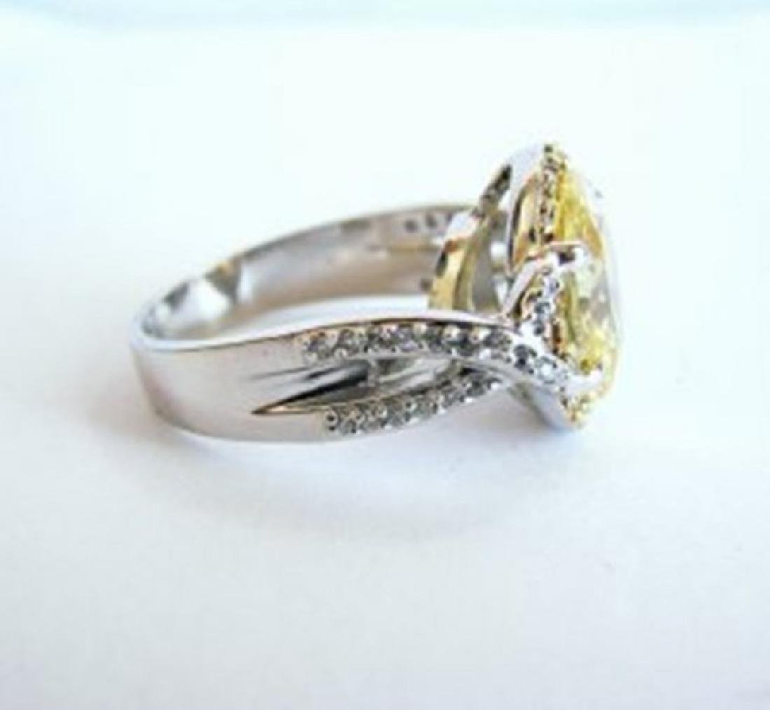 Creation Diamond Ring 5.98Ct 18k W-Y/g Overlay - 3