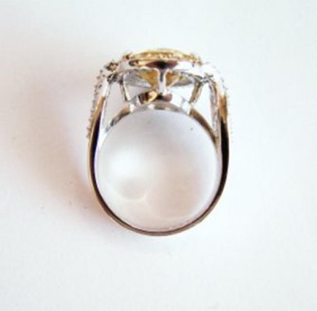 Creation Diamond Ring 5.98Ct 18k W-Y/g Overlay - 4