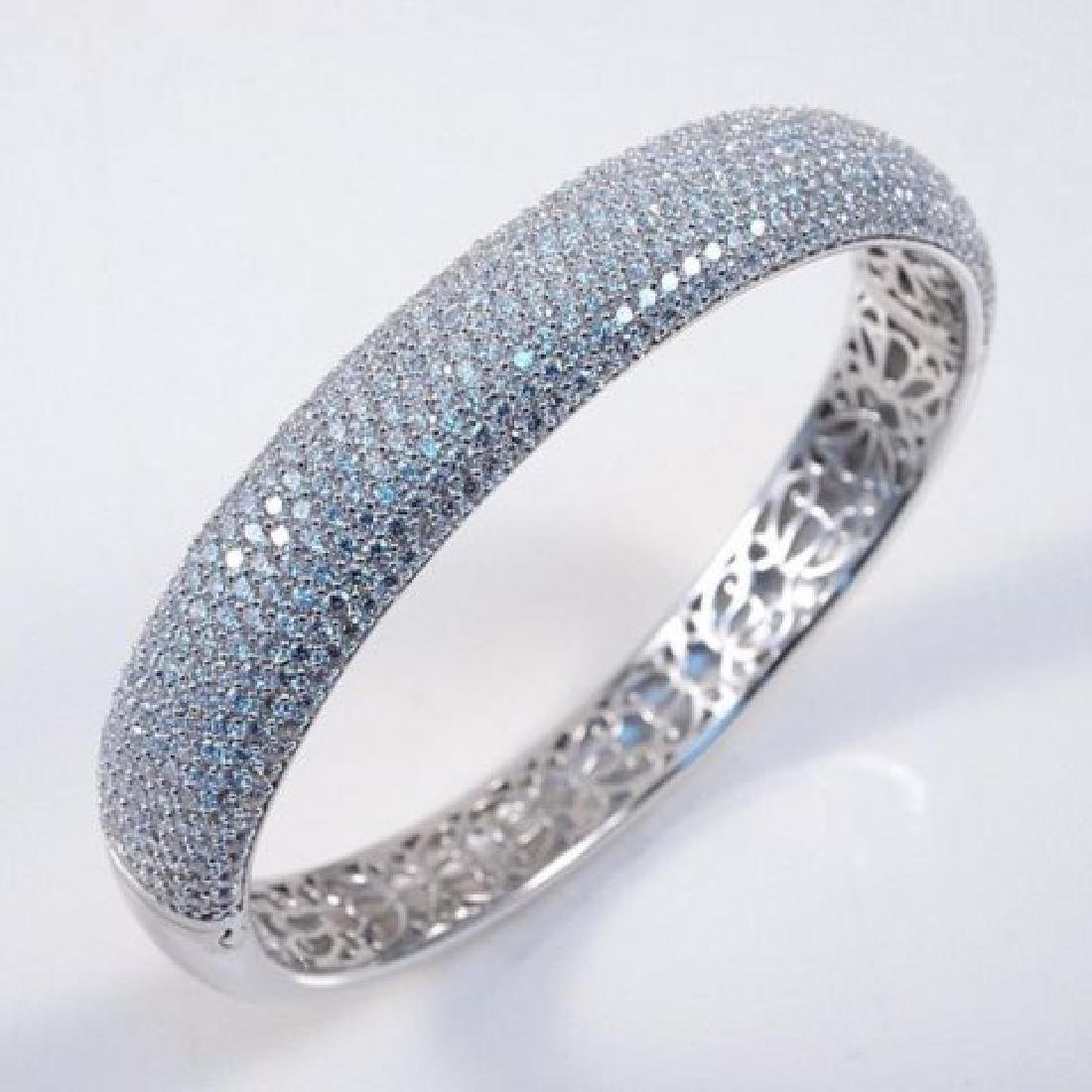 Creation Diamond Bangle 12.91Ct 18k W/g Overlay