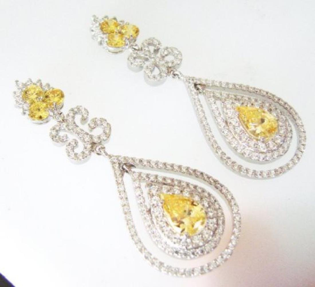 Creation Diamond & Fancy Yellow 21.72ct 14k W/G Overlay - 2