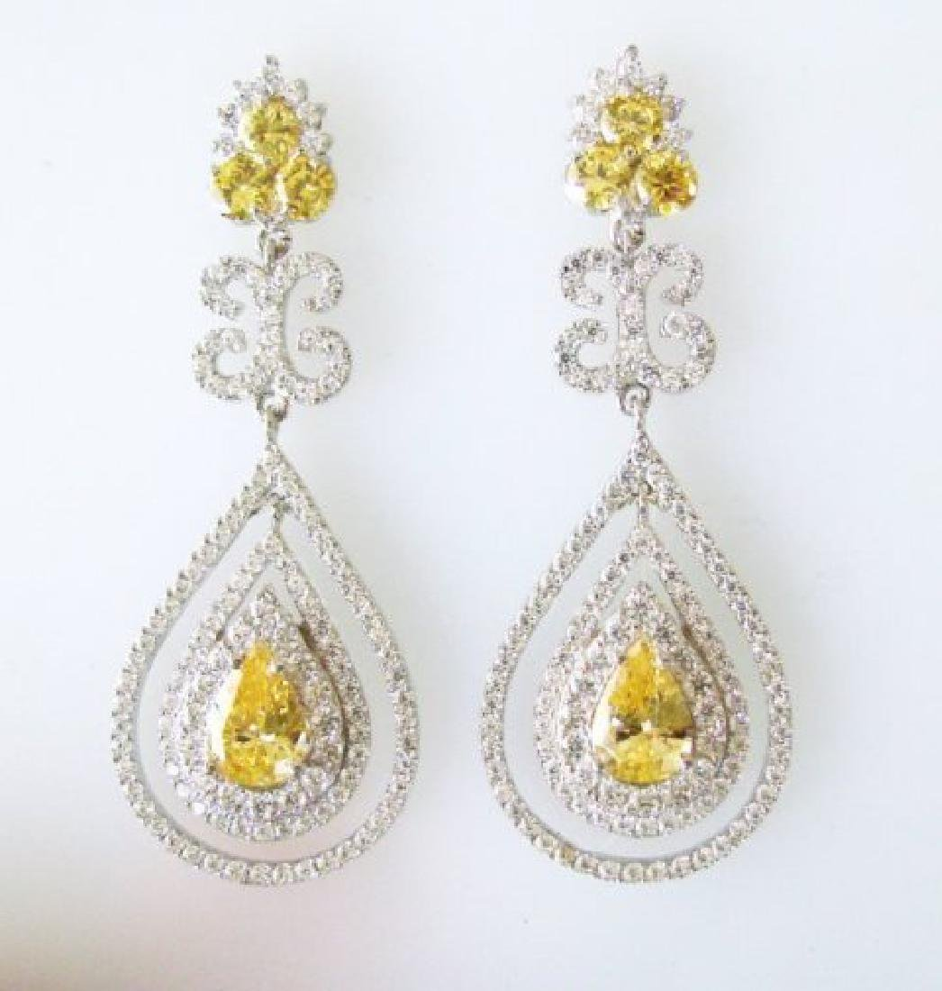 Creation Diamond & Fancy Yellow 21.72ct 14k W/G Overlay - 3