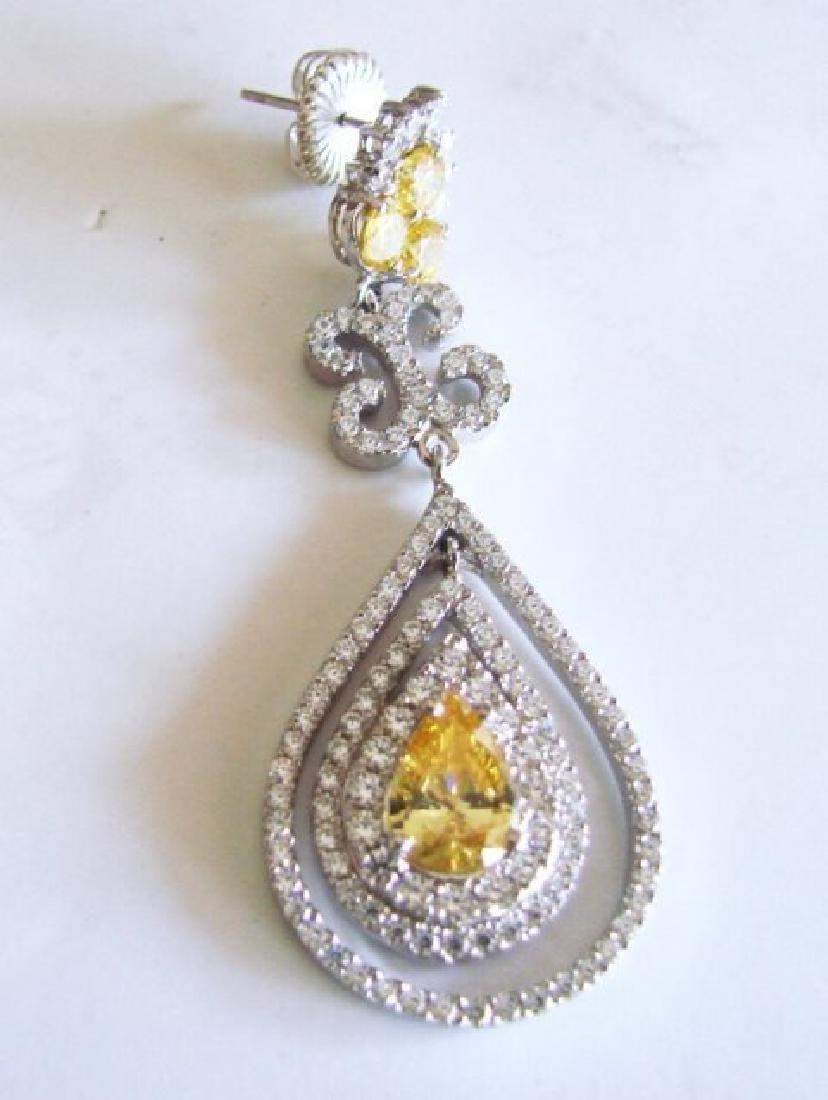Creation Diamond & Fancy Yellow 21.72ct 14k W/G Overlay - 4