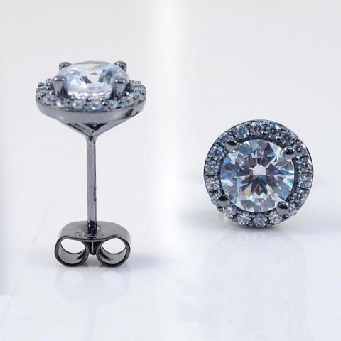 Creation Diamond Stud Earring 2.40Ct 18kB/g Over