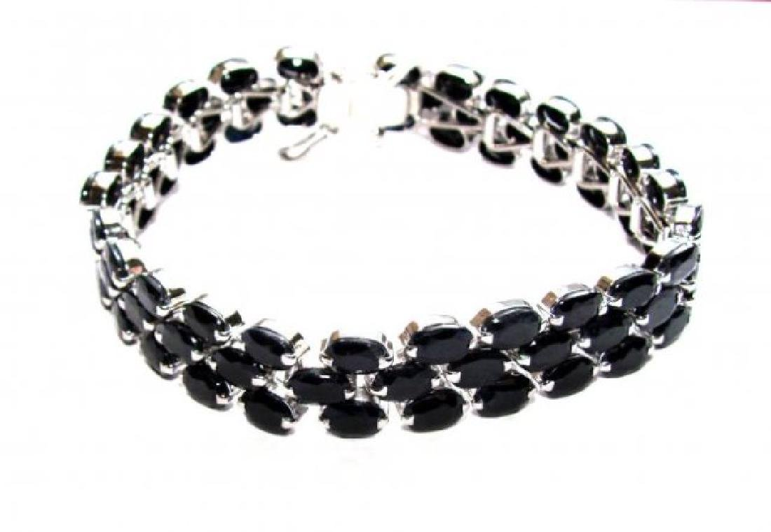 Natural Blue Sapphire Bracelet 17.30CT 18kW/g Over - 2