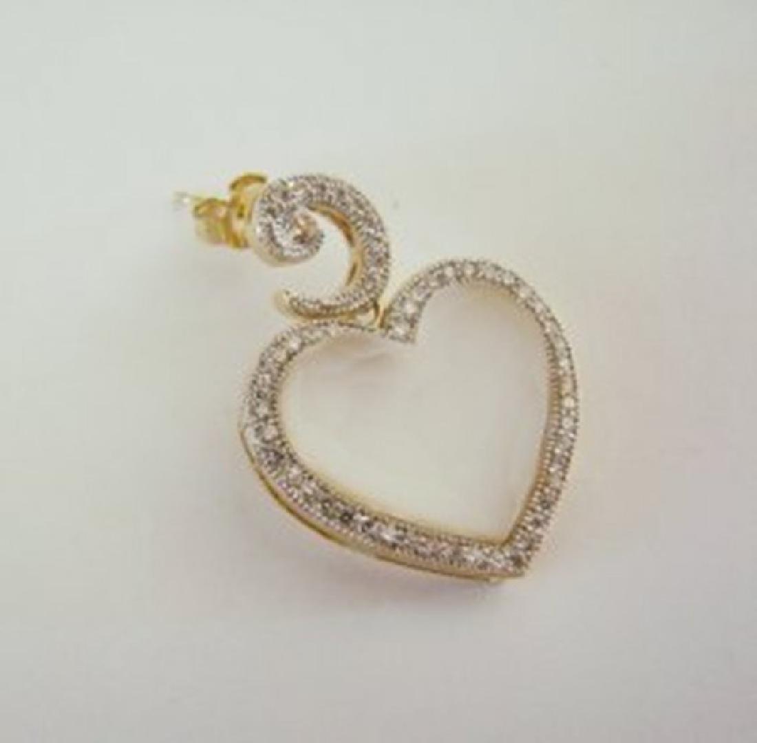 Creation Diamond Moon Earrings 29.86Ct 18k Y/g Overlay - 3