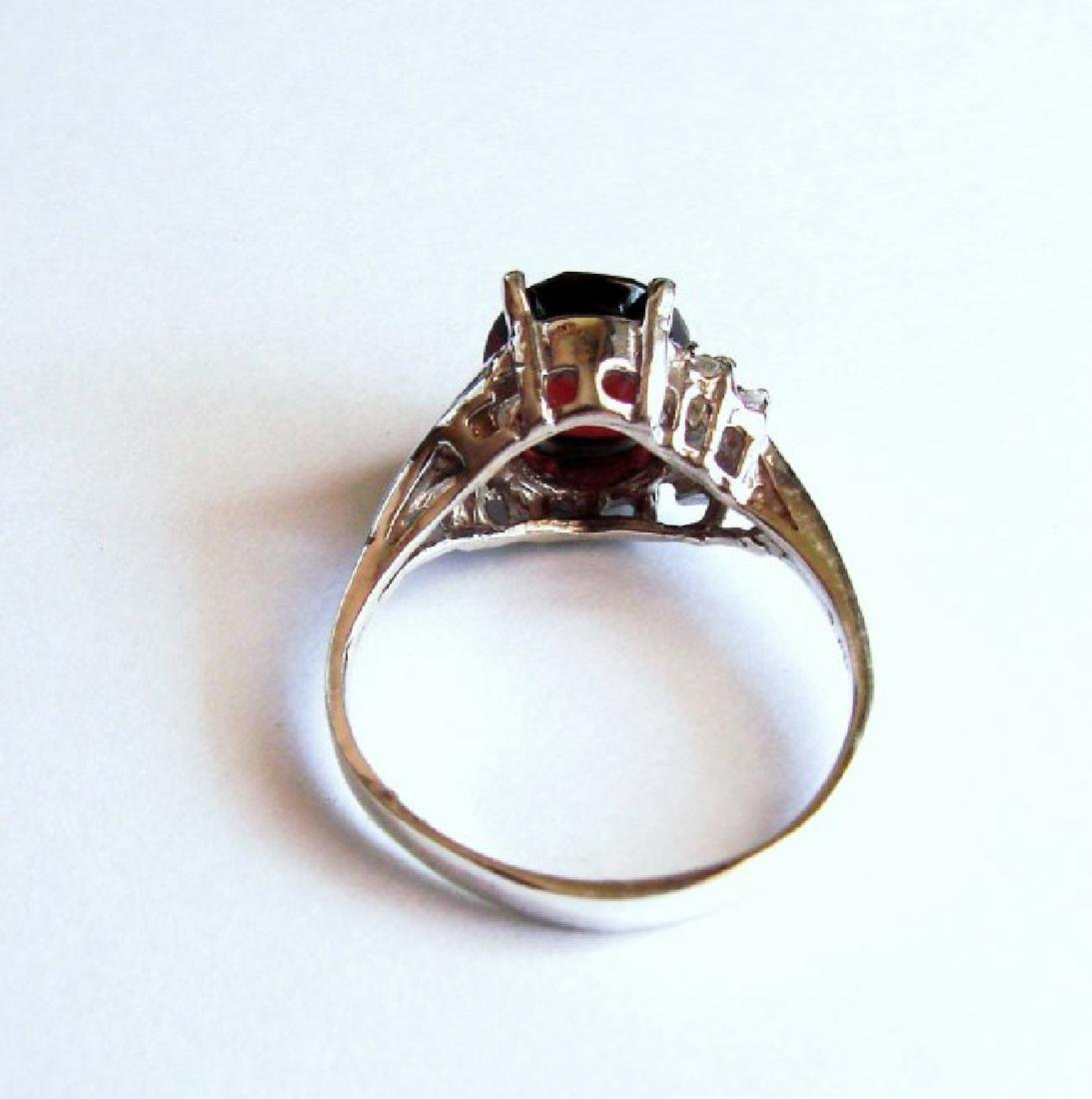 Anniversary Ring Natural Diamond Garnet 3.07Ct 14k W/g - 5