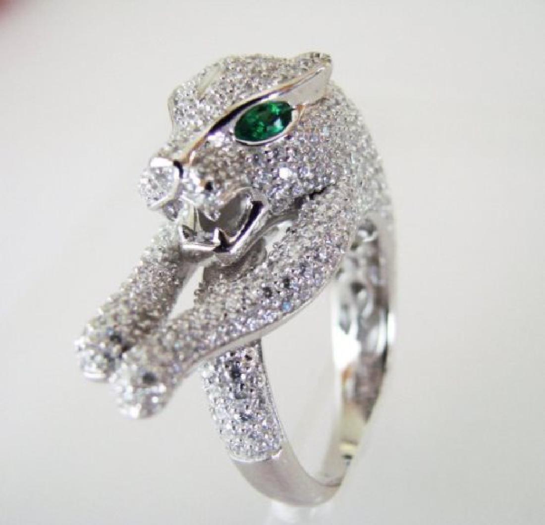 Creation Diamond Juguar Ring 4.67Ct18k W/g Overaly