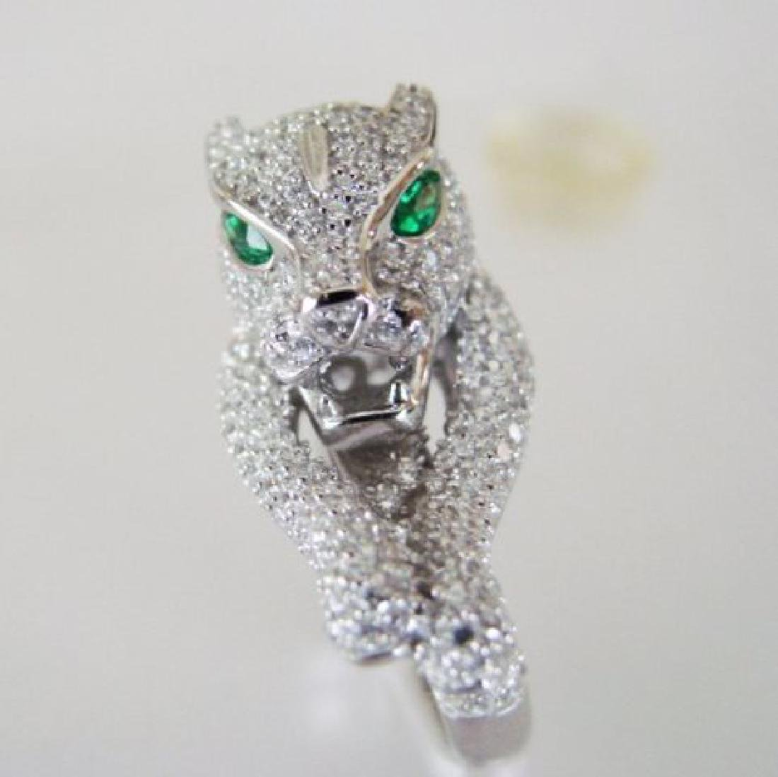 Creation Diamond Juguar Ring 4.67Ct18k W/g Overaly - 2