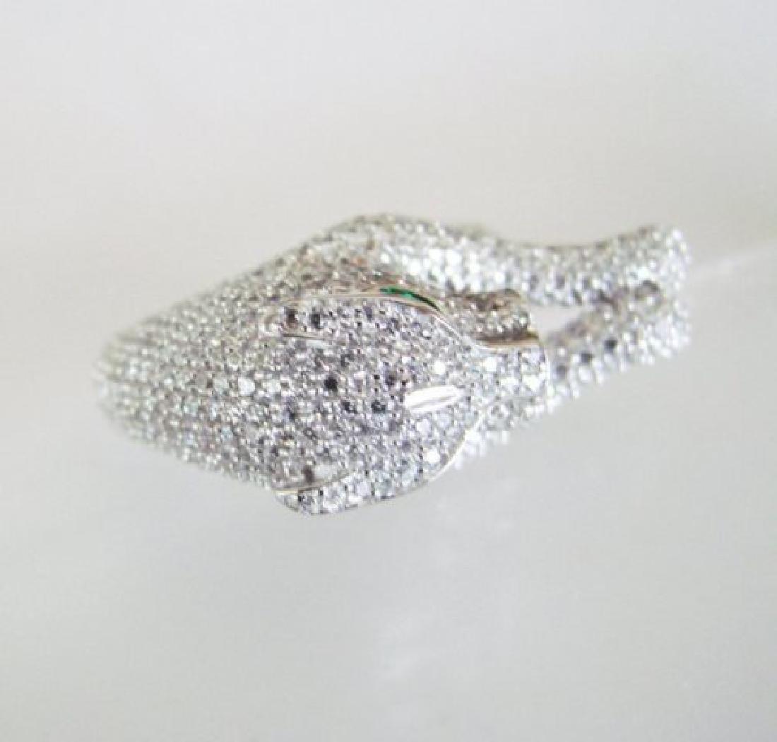 Creation Diamond Juguar Ring 4.67Ct18k W/g Overaly - 4