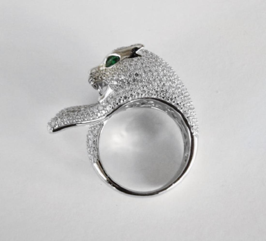 Creation Diamond Juguar Ring 4.67Ct18k W/g Overaly - 5