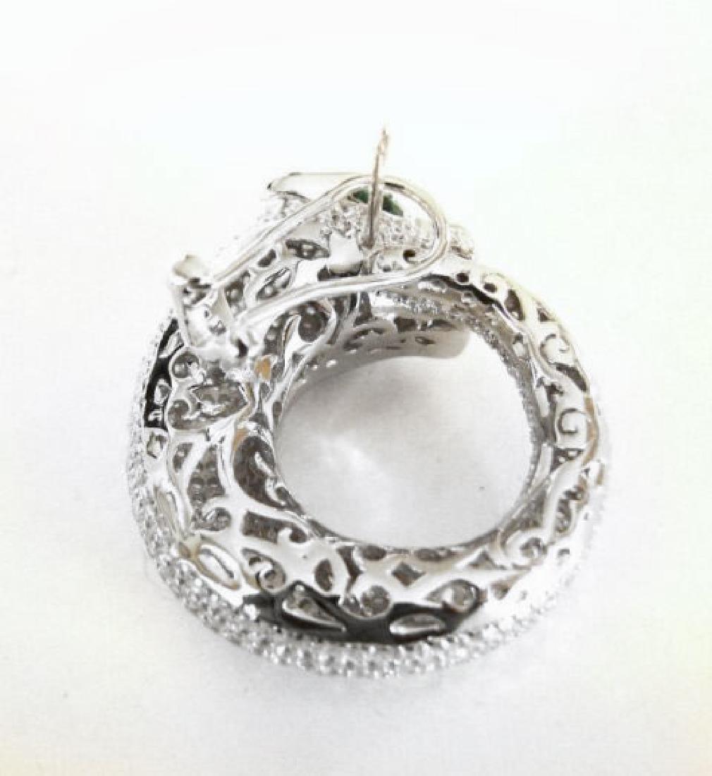 Creation Diamond Juguar Earrings 7.78Ct 18k W/g Overaly - 2