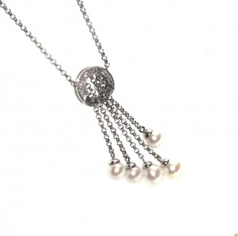 Creation Diamond Snake Earrings 6.57Ct 18k W/g Overlay - 2