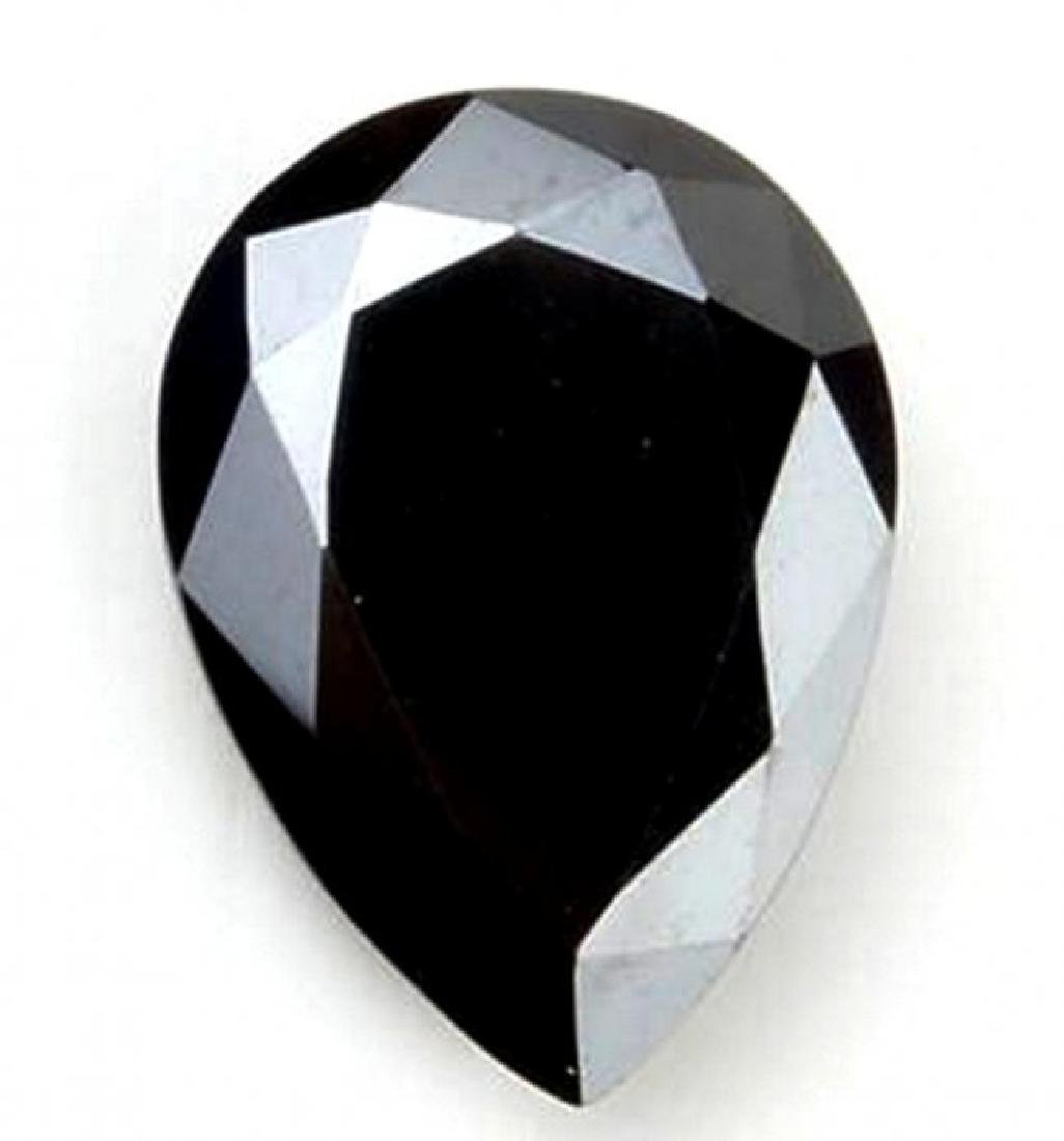 Black Diamond Pear Shape 4.40Ct 11.9x9.7x7.2 mm
