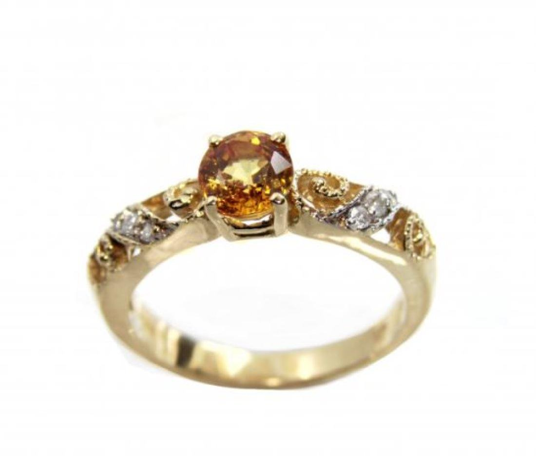 Vintage Yellow Sapphire Ring .50Ct Dia.12Ct 14kY/g
