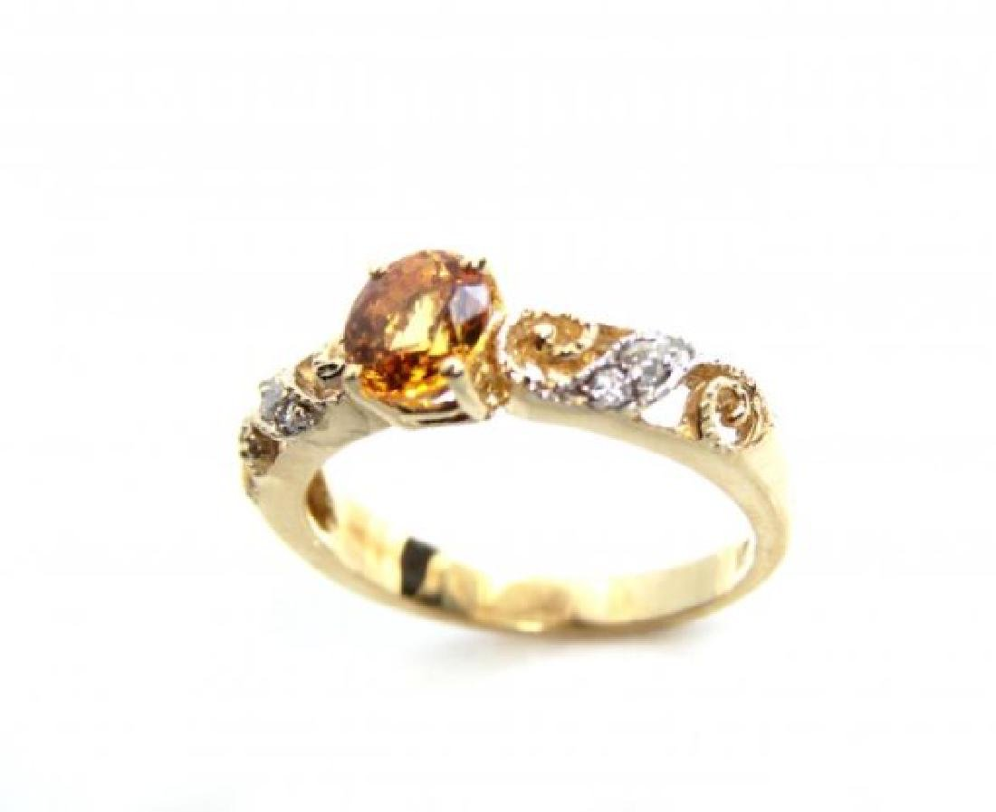 Vintage Yellow Sapphire Ring .50Ct Dia.12Ct 14kY/g - 2