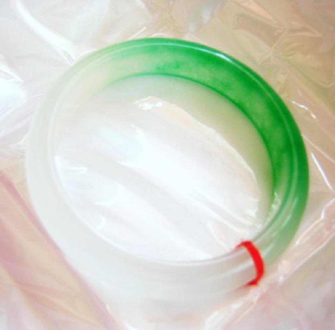 Natura Chinesel Jadeite Jade Bangle Grade B Size 7.5