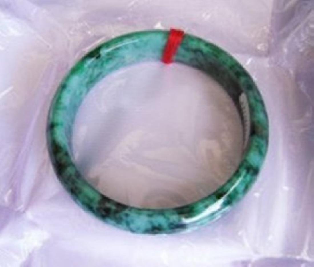 Natural Jadeite Jade Certif Bangle Grade: A Size 7.5 - 2