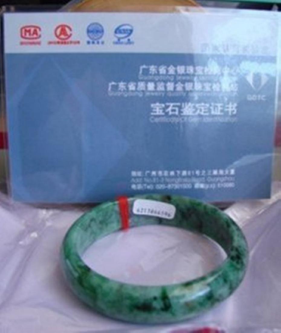 Natural Jadeite Jade Certif Bangle Grade: A Size 7.5 - 4