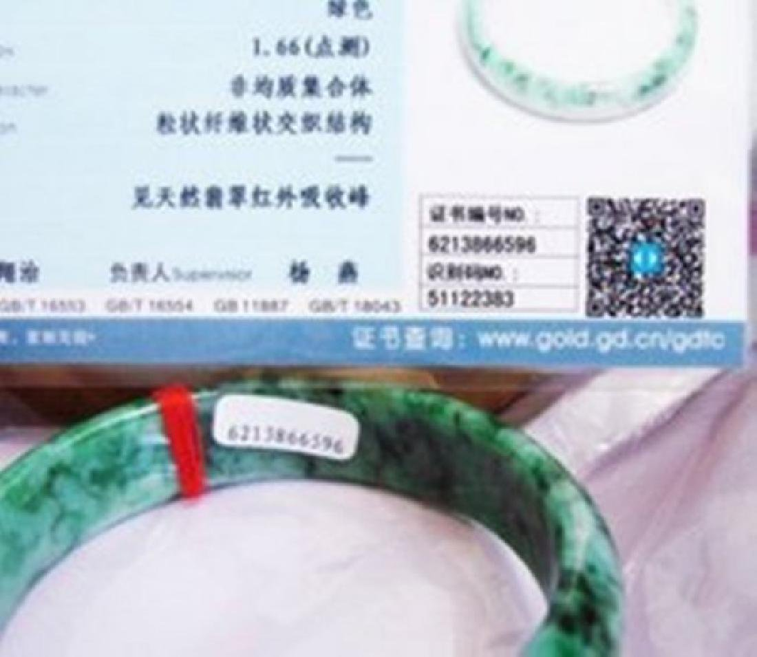 Natural Jadeite Jade Certif Bangle Grade: A Size 7.5 - 5