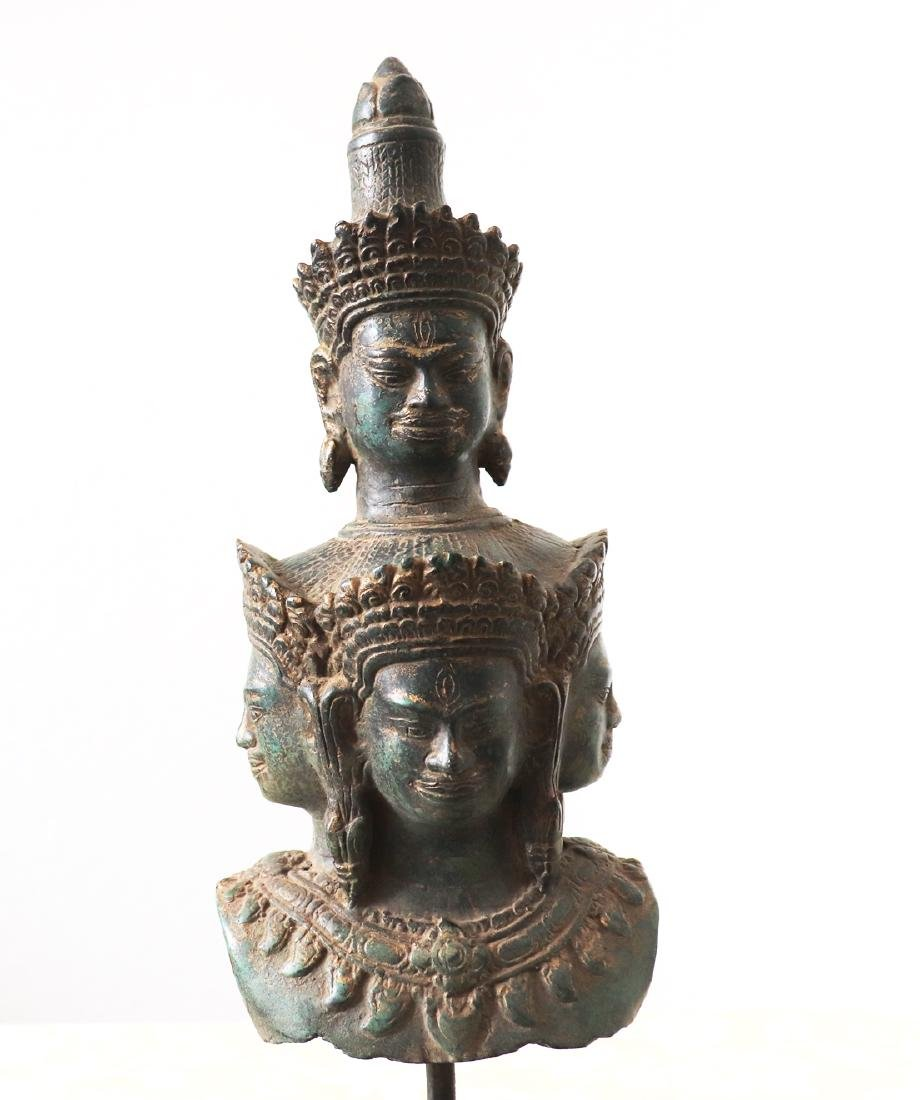 Khmer Angkor,Bronze Heyajra Brass King  Statue 12th