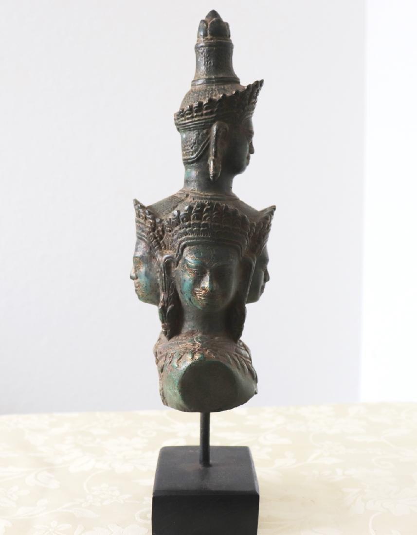 Khmer Angkor,Bronze Heyajra Brass King  Statue 12th - 6