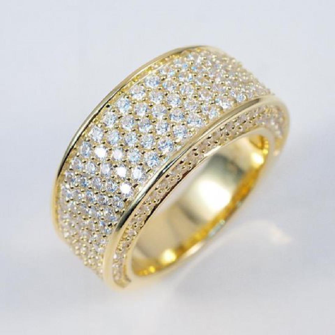 Creation Diamonds Ring 2.00 Carat 18k Y/G Overlay
