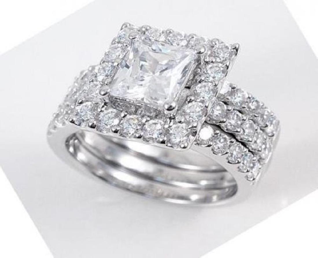 Creation Diamond Ring 3.25 Carat 18k W/G Overlay