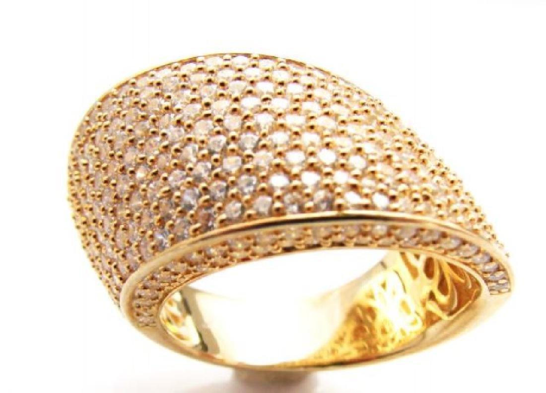 Creation Diamond Ring 3.00Ct 18k Y/g Overlay