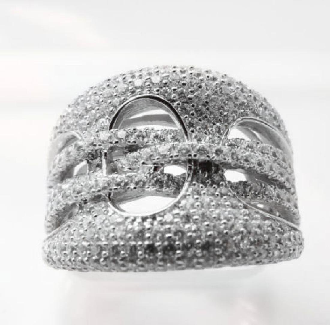 Creation Diamond Ring 2.50Ct 18k W/g Overlay