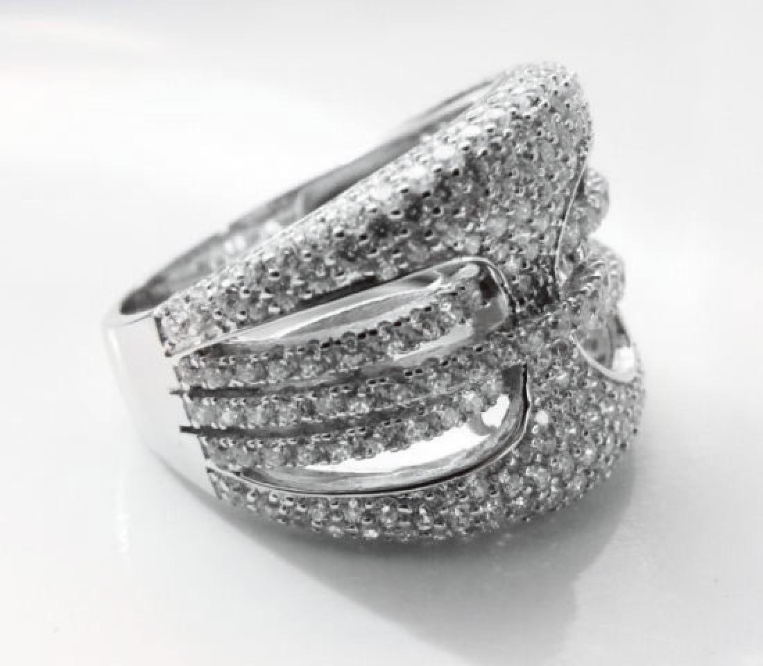 Creation Diamond Ring 2.50Ct 18k W/g Overlay - 3