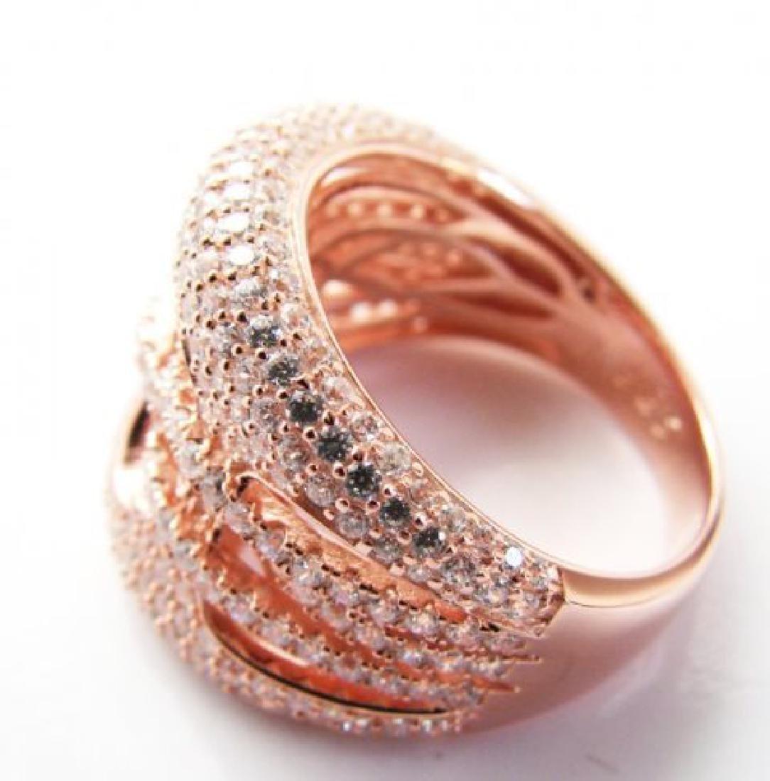 Creation Diamond Ring 2.50Ct 18k R/g Overlay - 3