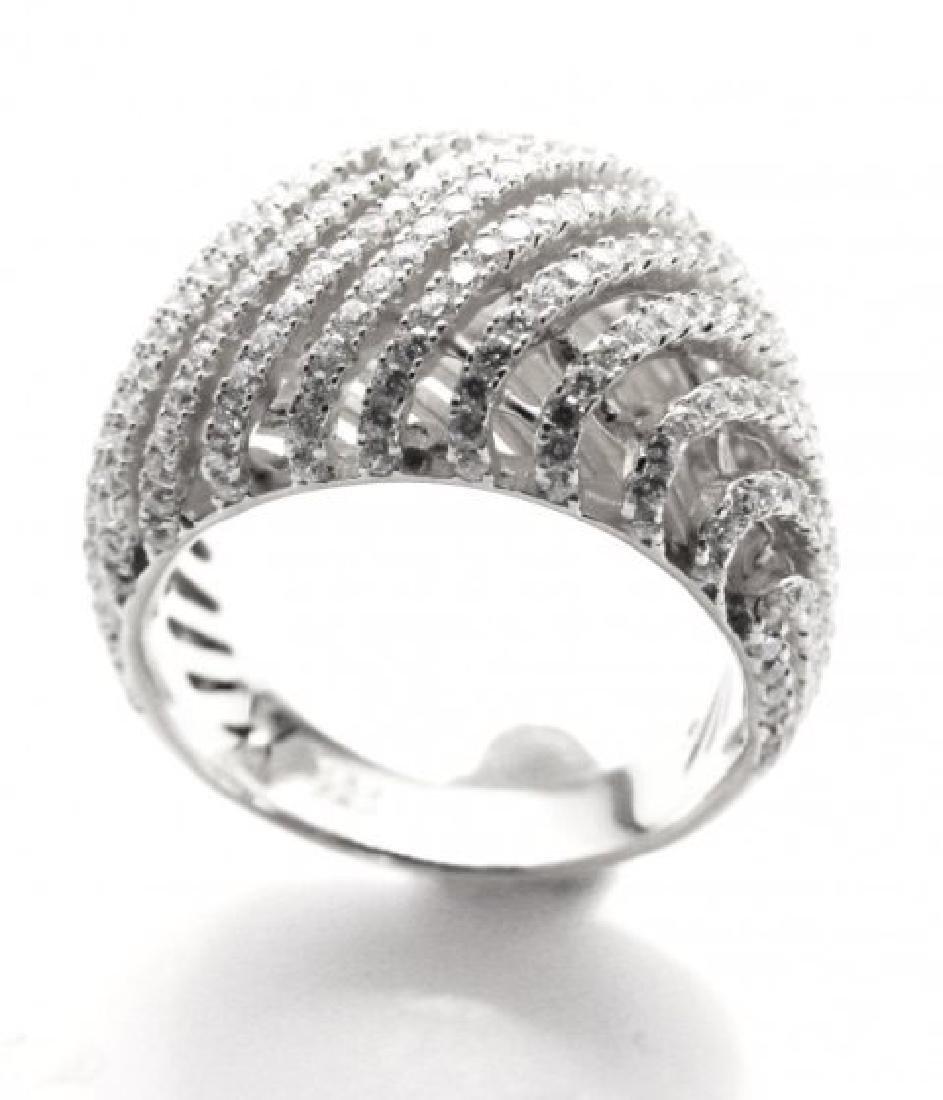 Creation Diamond Ring 2.50Ct 18k W/g Overlay - 2