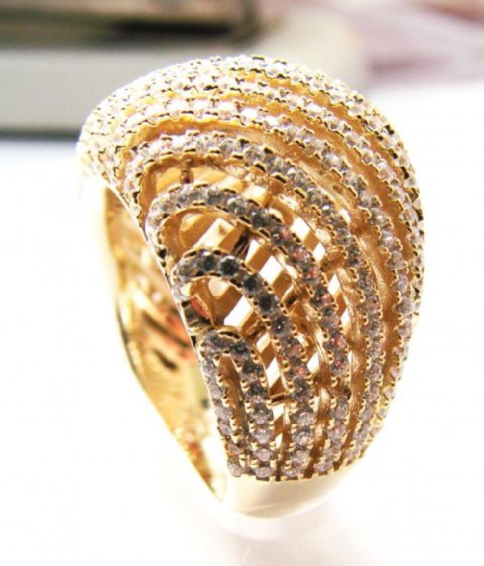 Creation Diamond Ring 2.50Ct 18k Y/G Overlay - 2