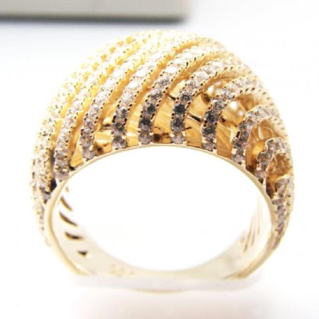 Creation Diamond Ring 2.50Ct 18k Y/G Overlay - 3