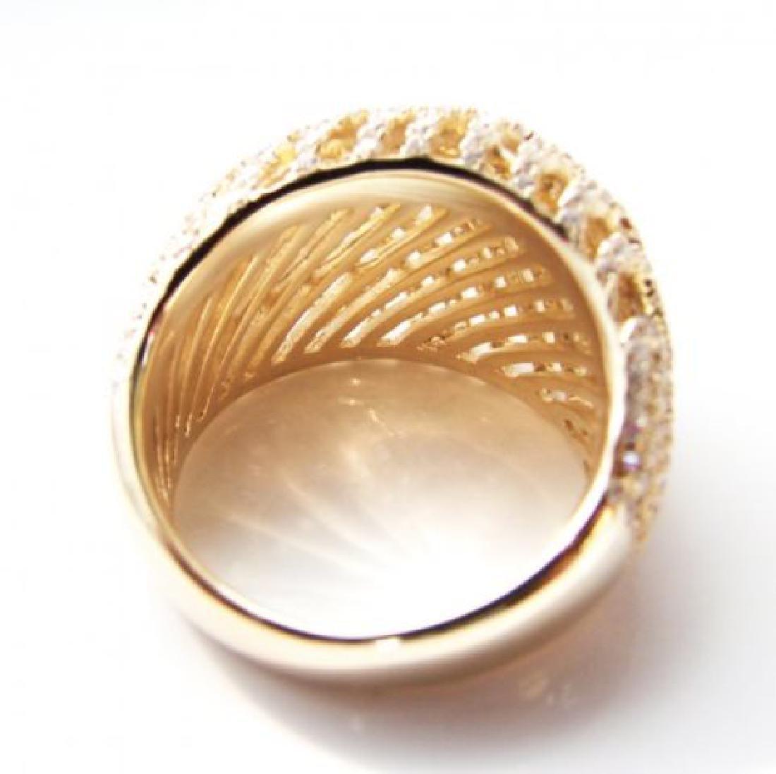 Creation Diamond Ring 2.50Ct 18k Y/G Overlay - 4