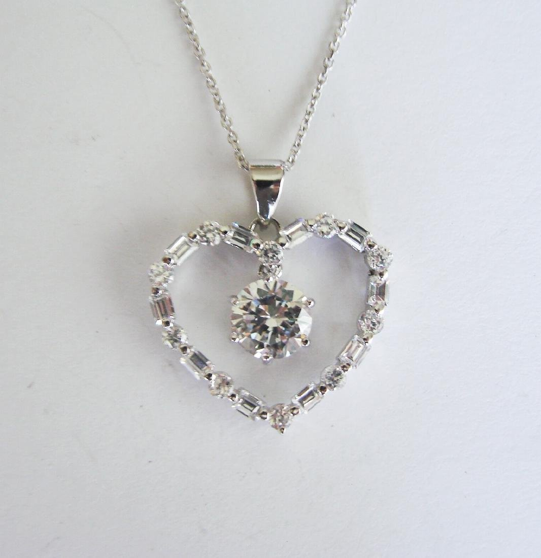 Creation Diamond Heart Pendant 3.79Ct 18k W/g Overlay - 2