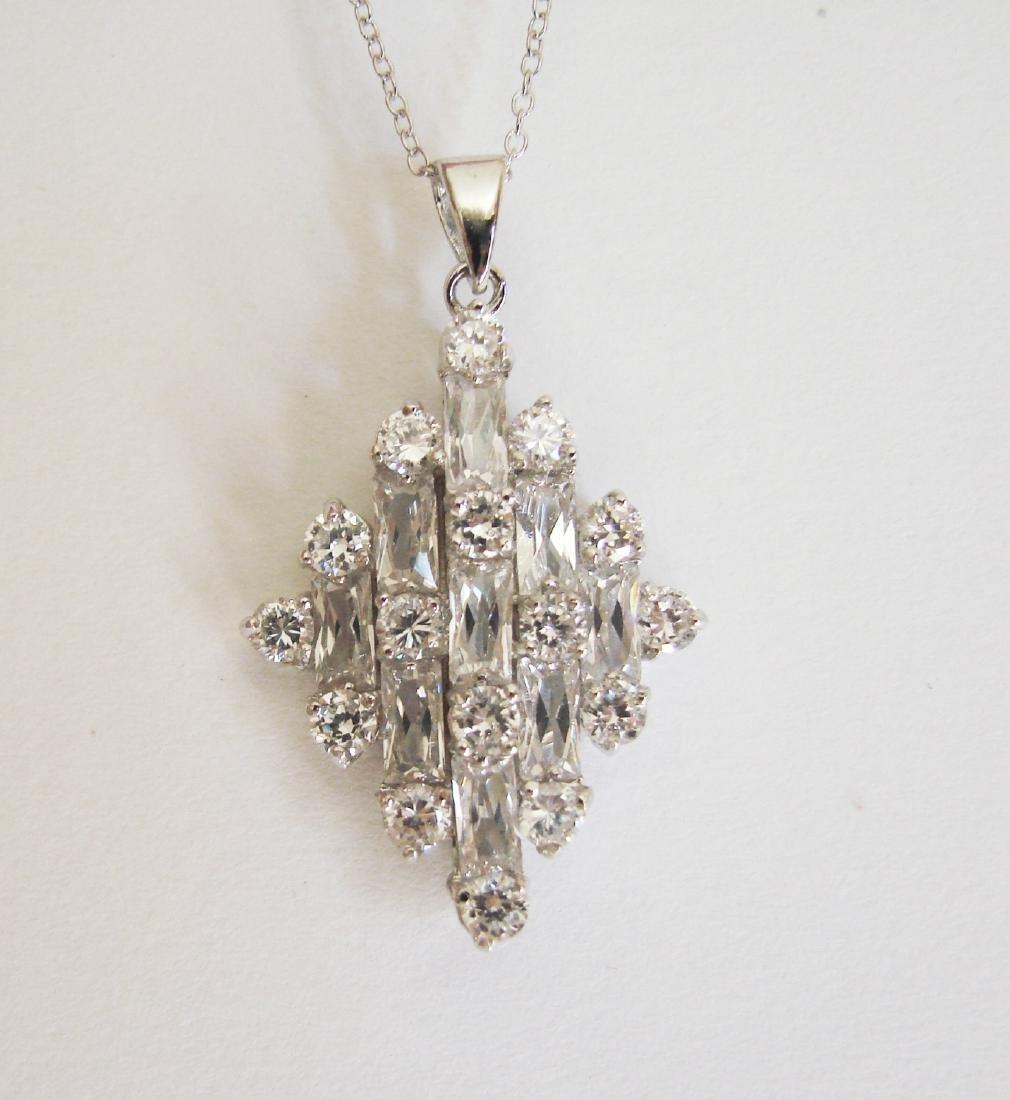 Creation Diamond Pendant 2.15Ct 18k W/g Overlay - 2