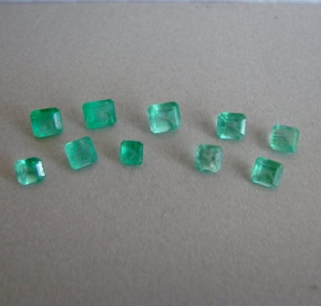 Lot 10 Pics Emerald Colombial Octagon 3.60Ct