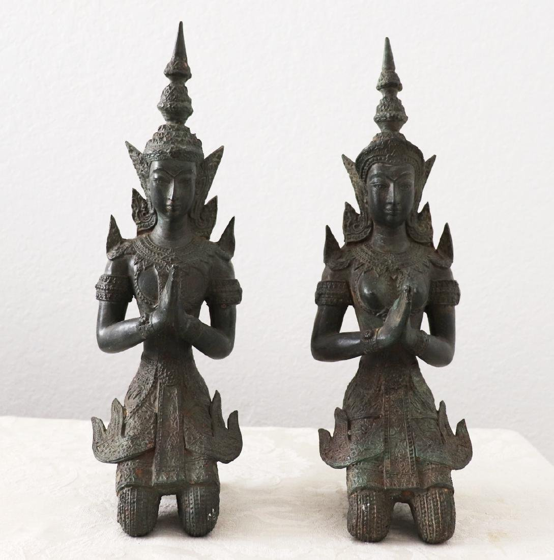 Khmer Royal Pairs of Guardian Angle Statue 12th Century