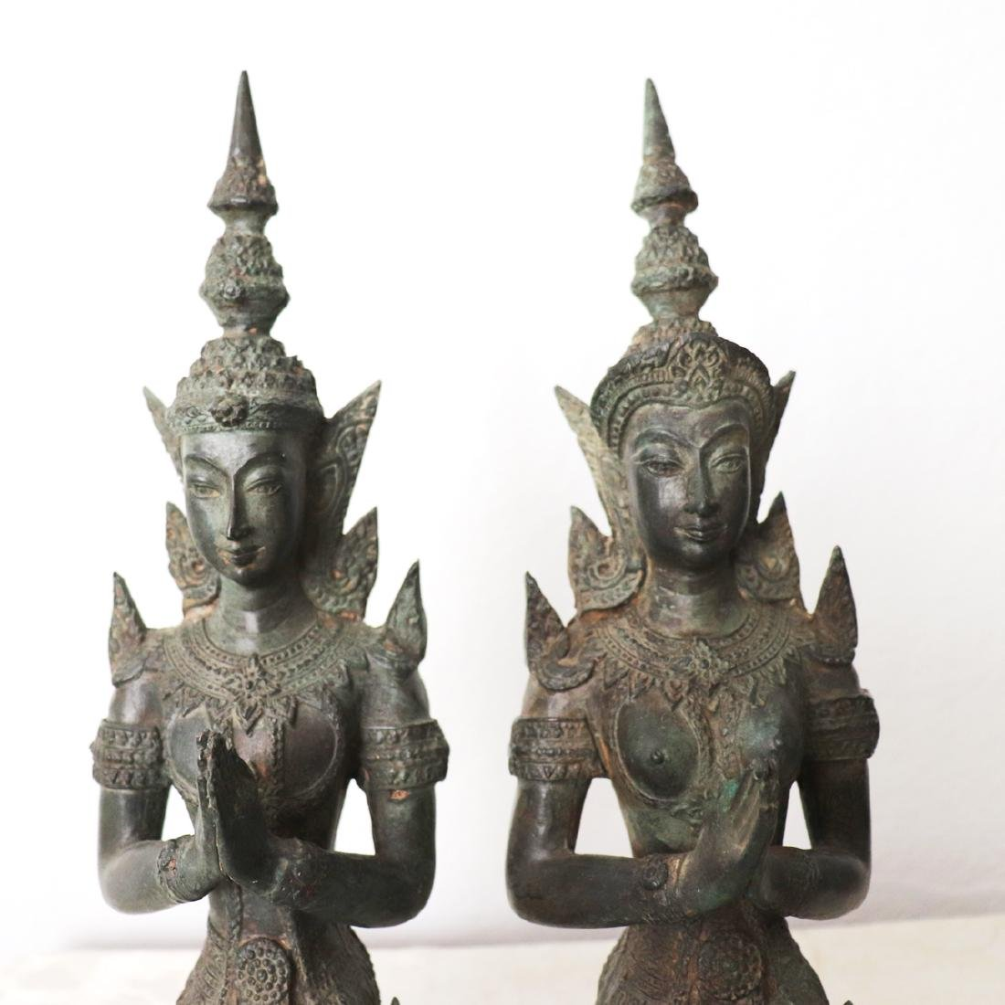 Khmer Royal Pairs of Guardian Angle Statue 12th Century - 4