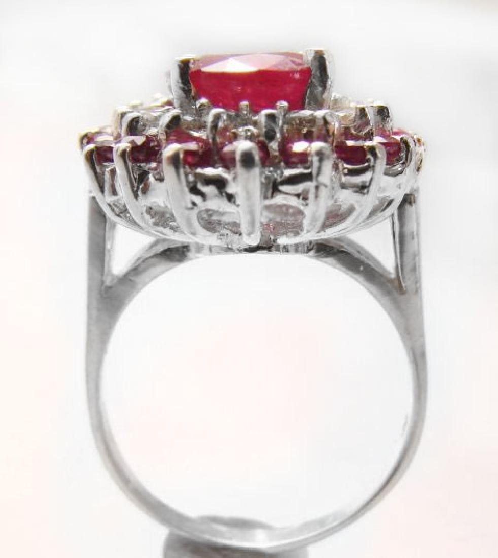 Ruby: 5.32 Diamond: .72CT Ring 14k White Gold - 4