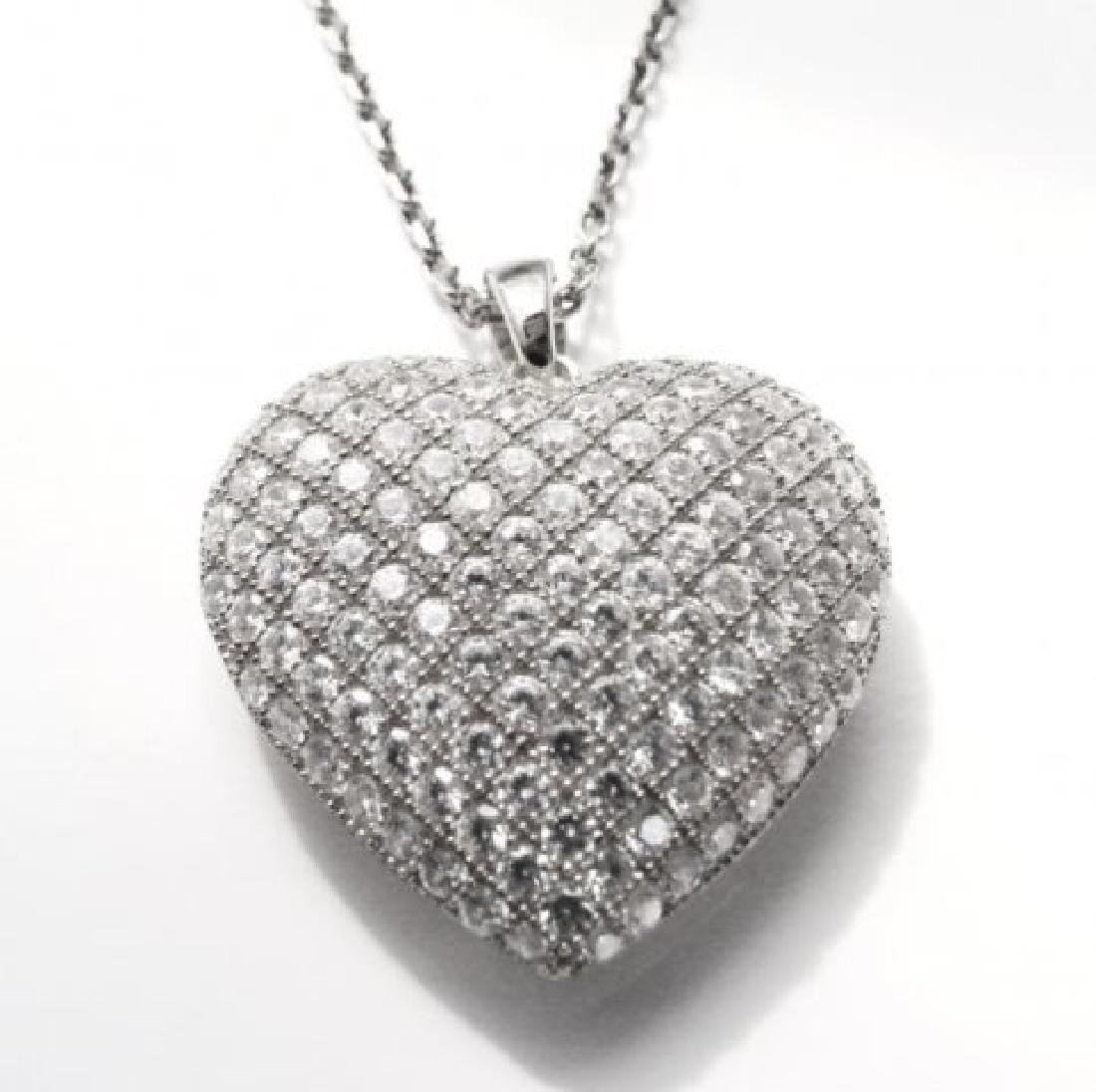 Creation Diamond Heart Pendant 2.00ct 18kW/g Over