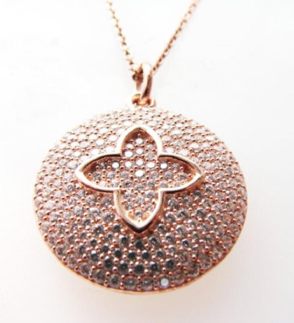 Creation Diamond Pendant 2.50ct 18k R/g Over - 2