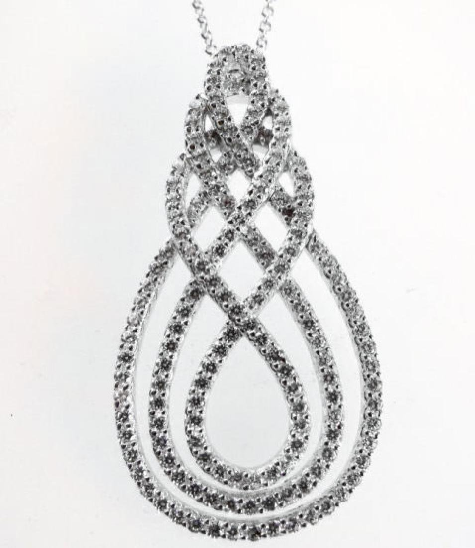 Creation Diamond Pendant 2.85Ct 18k W/g Overlay
