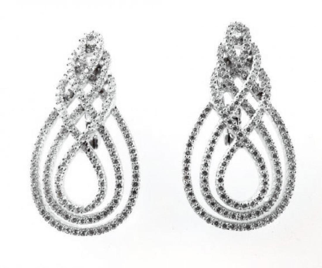 Creation Diamond Earrings 3.30Ct18k W/g Overla