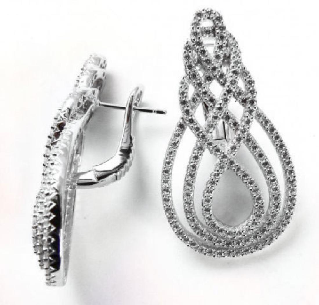 Creation Diamond Earrings 3.30Ct18k W/g Overla - 2