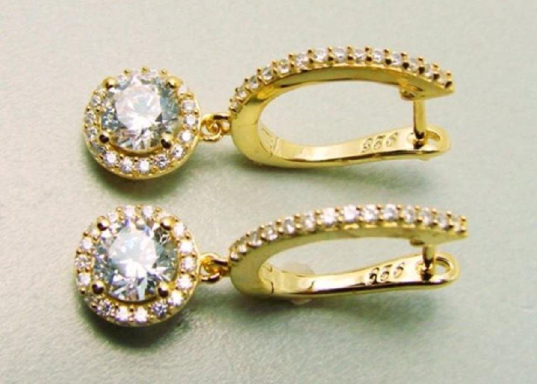 Creation  Dia: Dangle Earring 2.45Ct 18kY/g Over - 2