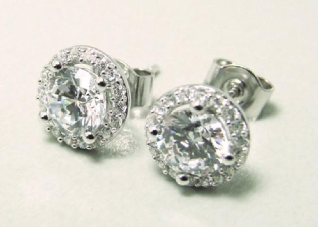 Creation Diamond Stud Earring 2.40Ct 18k W/g Over - 2