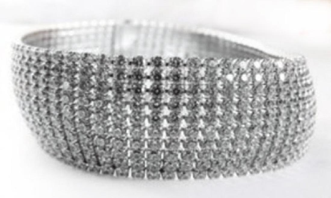 Bracelet Creation Diamond 16.21Ct 18k W/g Overlay