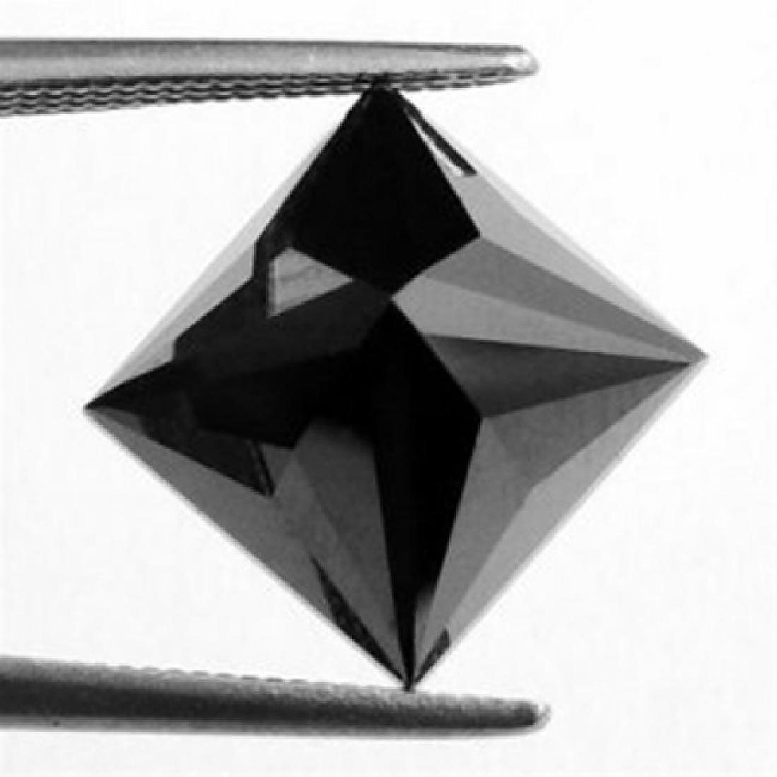 Black Diamond Princess Cut 1.43Ct 6.4x6.4x4.7 mm - 2